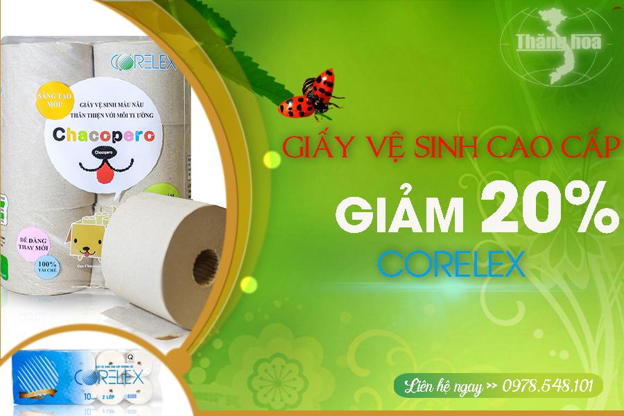 Khuyến mãi giấy vệ sinh CORELEX